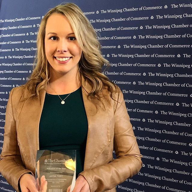 Our team loves to give back to the Winnipeg community! Today Jaysa was honoured with a Volunteer of the Year award for her contributions to the Winnipeg Chamber of Commerce. Way to go Jaysa! 👏🏻 . . . #volunteering #winnipeg #winnipegbusiness #winnipegbiz #exchangedistrict #exchangebiz #exchangedistrictbiz #humanresources #humanresourcesmanagement #hrmanager #hrmanagement #hrmanagers #leaders #leadership #managers #employeeengagement #business #management #recruiting #recruitment #companyculture #hrlife #gsd