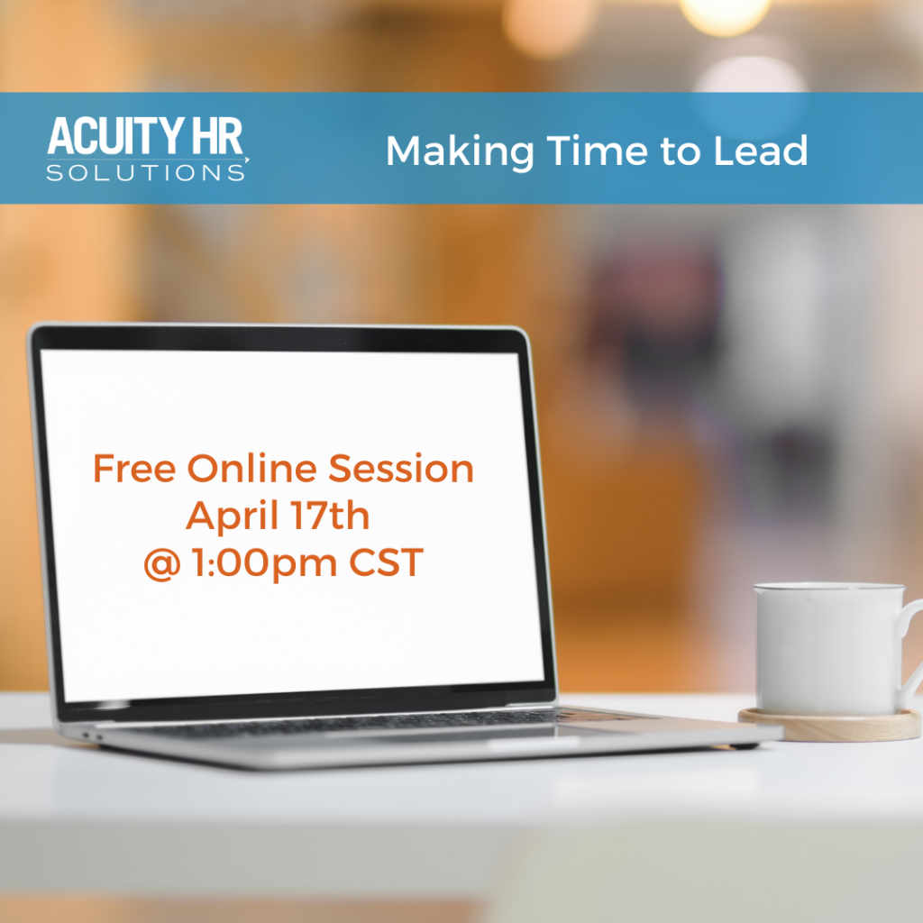 Making Time to Lead – Free Online Professional Development Session